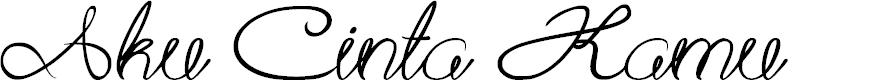 Preview image for Aku Cinta Kamu Font