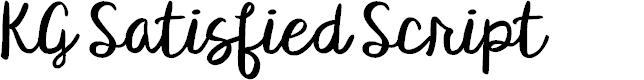 Preview image for KG Satisfied Script Font