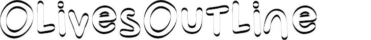 Preview image for OlivesOutline Font