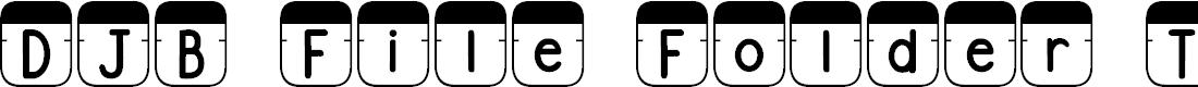 Preview image for DJB File Folder Tabs Font