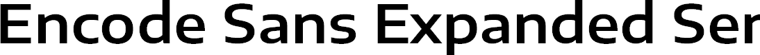 Preview image for Encode Sans Expanded SemiBold
