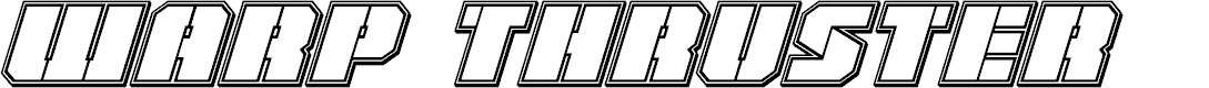 Preview image for Warp Thruster Engraved Italic