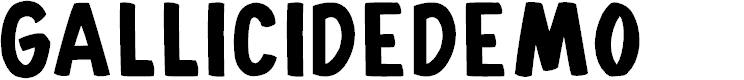Preview image for Gallicide-Demo Font