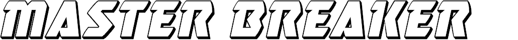 Preview image for Master Breaker 3D Italic