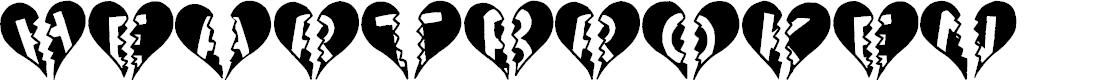 Preview image for Heartbroken Font