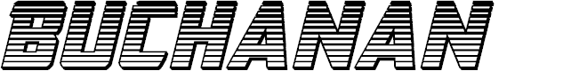 Preview image for Buchanan Chrome Italic