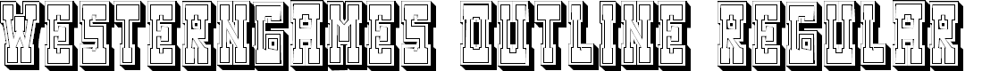 Preview image for Westerngames Outline Regular Font