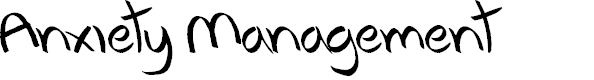 Preview image for Anxiety Management Font