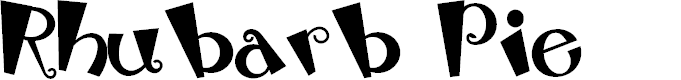 Preview image for RhubarbPie Font