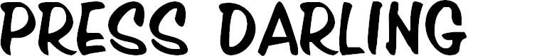Preview image for Press Darling Regular Font