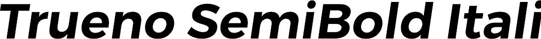 Preview image for Trueno SemiBold Italic