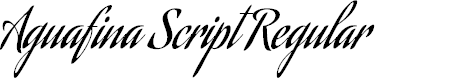 Preview image for Aguafina Script Regular