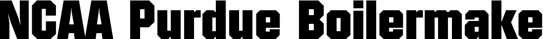 Preview image for NCAA Purdue Boilermakers Font