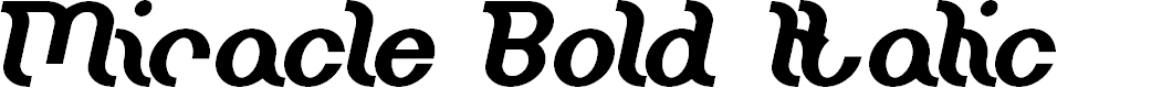Preview image for Miracle Bold Italic
