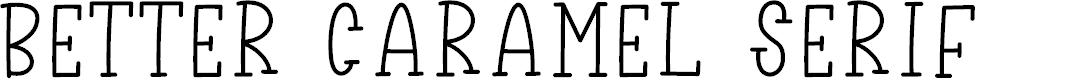 Preview image for Better Caramel Serif
