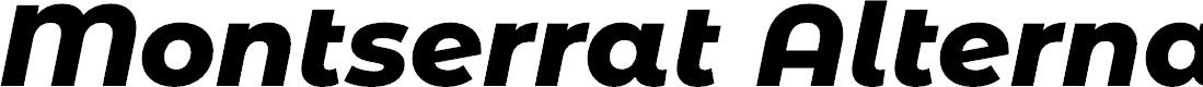 Preview image for Montserrat Alternates ExtraBold Italic
