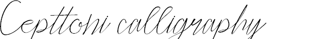 Preview image for Cepttoni calligraphy