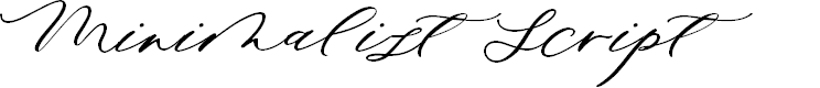 Preview image for Minimalist Script Font