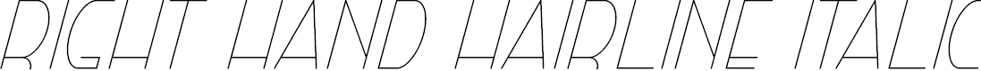 Preview image for Right Hand Hairline Italic
