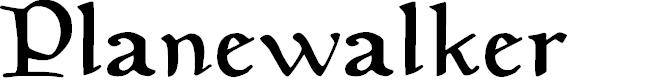 Preview image for Planewalker Font