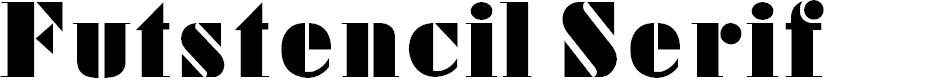 Preview image for FutstencilSerif Font