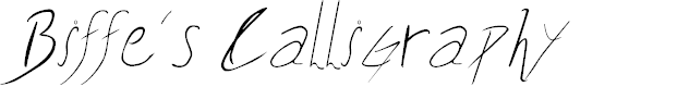 Preview image for Biffe´s Calligraphy Font