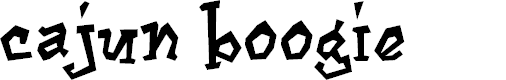 Preview image for Cajun Boogie Font