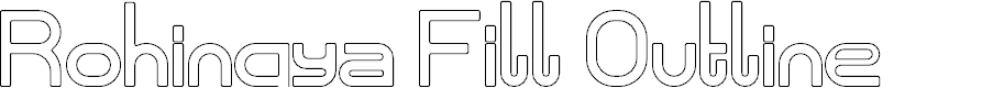 Preview image for Rohingya Fill Outline Font