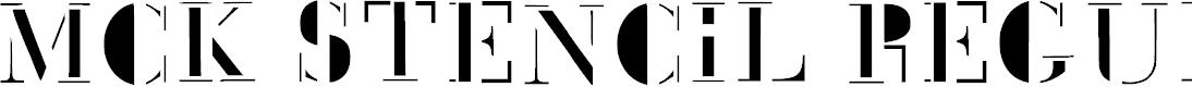 Preview image for Mck Stencil Regular Font