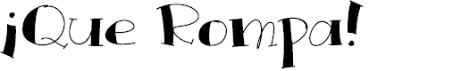 Preview image for QueRompa Font