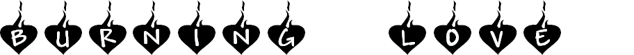 Preview image for KR Burning Love Font