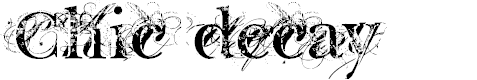 Preview image for Chic decay Font