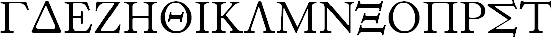 Preview image for Foulis Greek Font