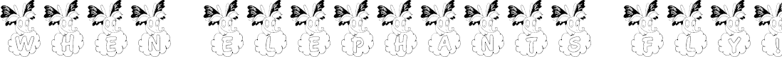 Preview image for LCR When Elephants Fly! Font