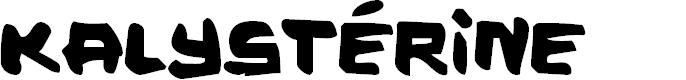 Preview image for Kalystérine Font
