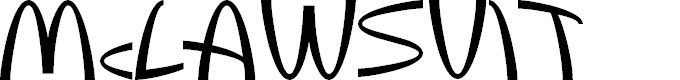 Preview image for McLawsuit Font