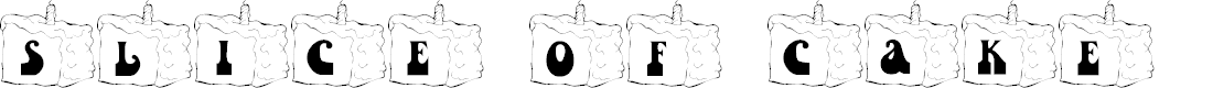 Preview image for 101! Slice of Cake Font