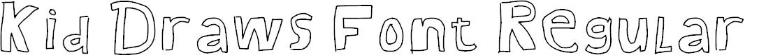 Preview image for Kid Draws Font Regular Font