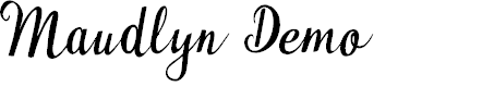Preview image for Maudlyn Demo Font