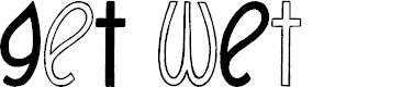 Preview image for GeT wEt Font