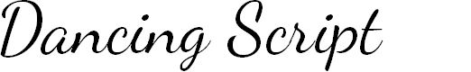 Preview image for Dancing Script Font