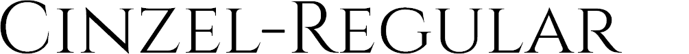 Preview image for Cinzel-Regular Font