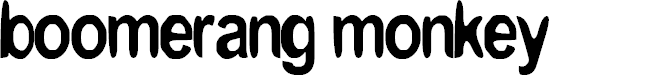 Preview image for boomerang monkey Font