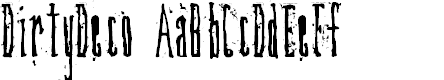 Preview image for DirtyDeco Font