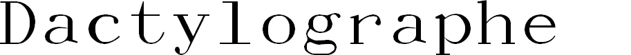 Preview image for Dactylographe (Unregistered) Font