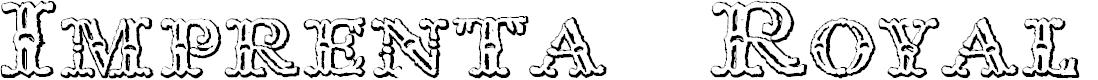 Preview image for Imprenta Royal Nonpareil Beveled Font