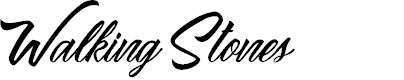 Preview image for Walking Stones Personal Use Font