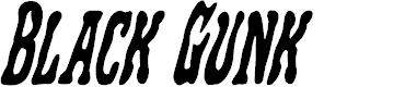 Preview image for Black Gunk Condensed Italic