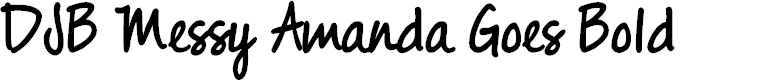 Preview image for DJB Messy Amanda Goes Bold Font
