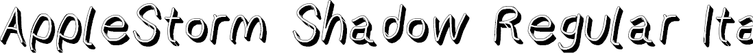 Preview image for AppleStorm Shadow Regular Italic